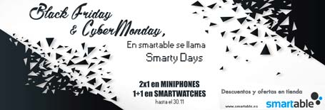 Smartable - Ni Black Friday ni CyberMonday, en smartable IoT tenemos los smartyDAYS
